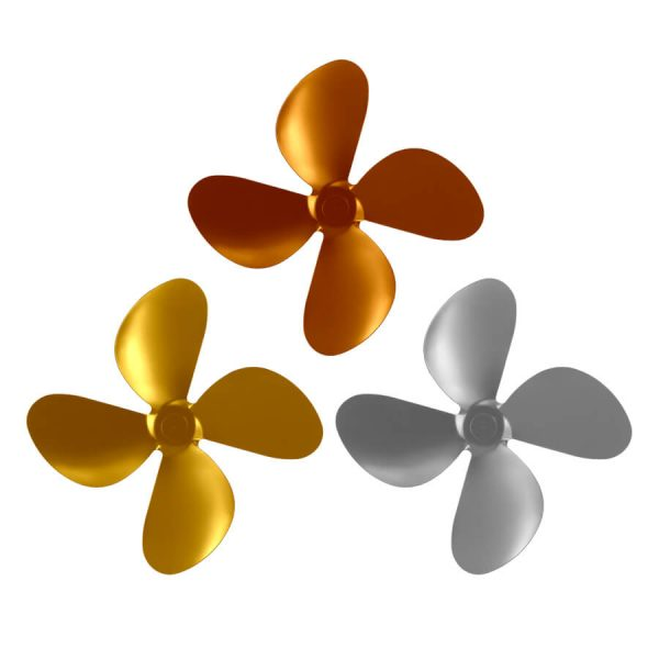 UK Stove Fans set of 3 heat powered stove fan replacement blades in gold, silver and copper