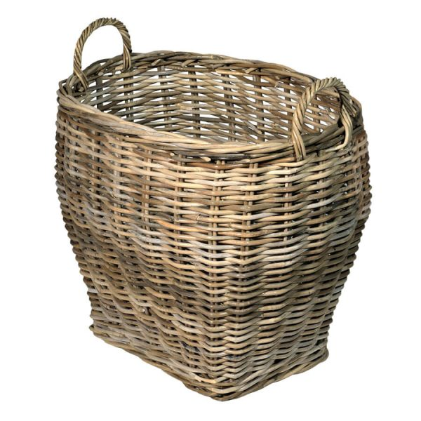 UK Stove Fans large oval log storage basket