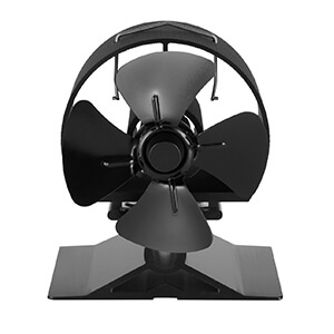 uk stove fans heat powered mini fan 524 4 blade