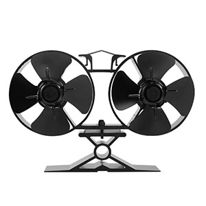 uk stove fans T84 4 blade double twin heat powered fan