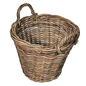 UK Stove Fans round tapered log wood basket