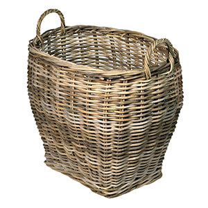 UK Stove Fans oval log wood basket for storage