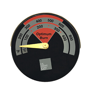 UK Stove Fans ST201 temperature gauge